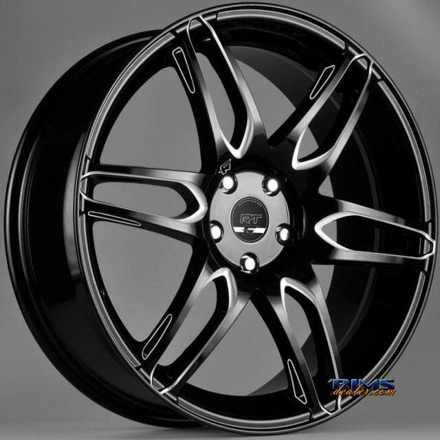 Pictures for FK Ethos Wheels RT-6 black flat w/ machined