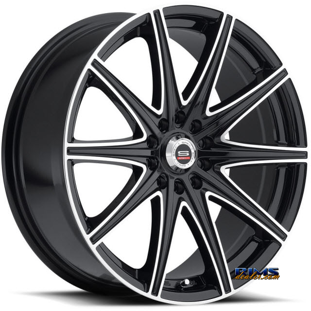 Pictures for Spec 1 Wheels SP-14 black gloss w/ machined