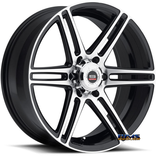 Pictures for Spec 1 Wheels SP-22 black gloss w/ machined