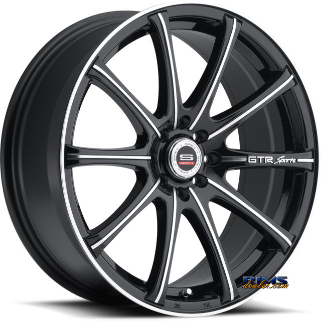 Pictures for Spec 1 Wheels SP- 19 black gloss w/ machined