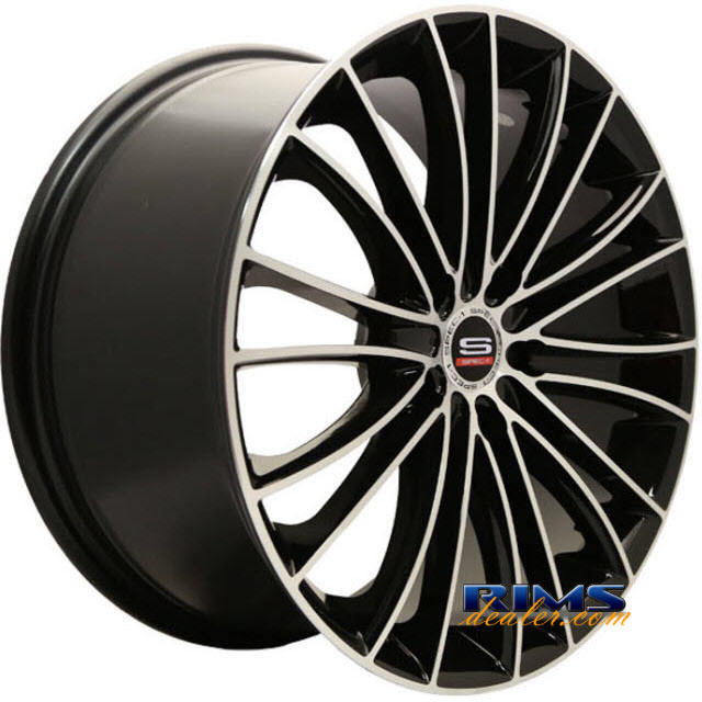 Pictures for Spec 1 Wheels SP- 1S black gloss w/ machined