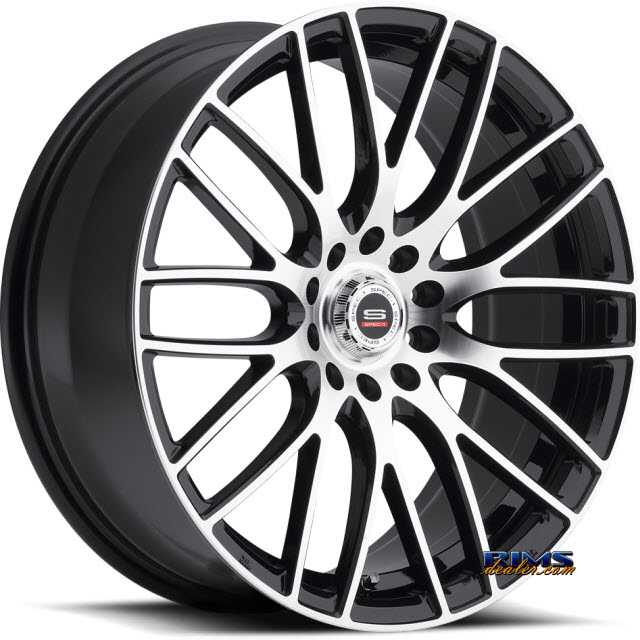 Pictures for Spec 1 Wheels SP- 20 black gloss w/ machined