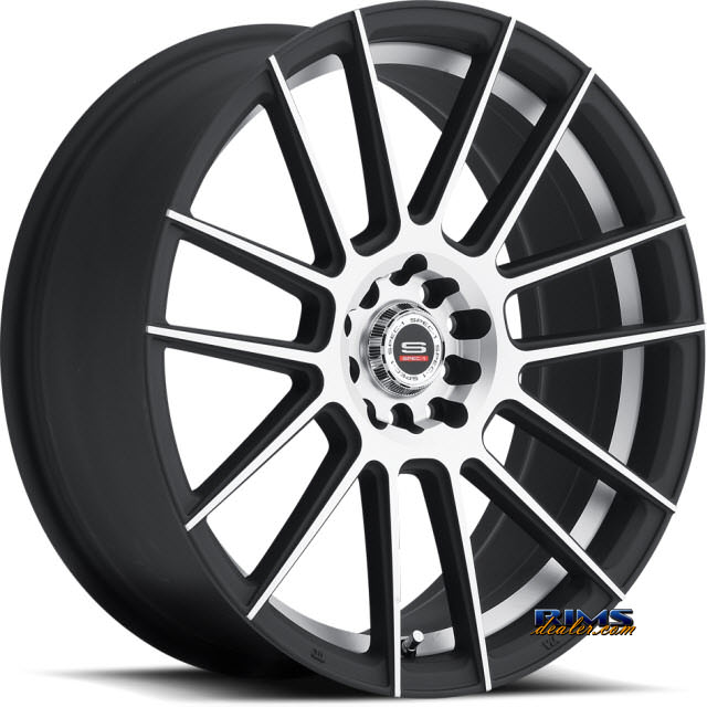 Pictures for Spec 1 Wheels SP- 21 black flat w/ machined
