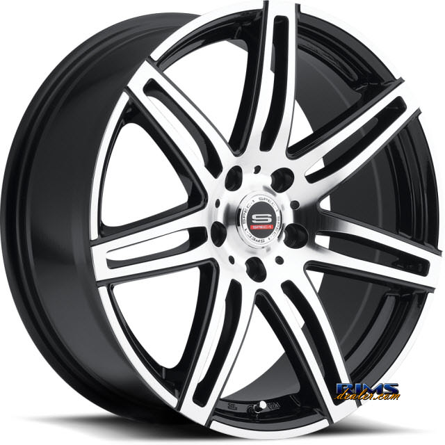 Pictures for Spec 1 Wheels SP- 24 black gloss w/ machined