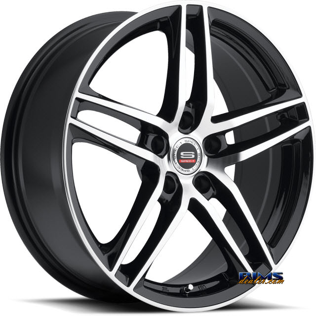 Pictures for Spec 1 Wheels SP- 25 black gloss w/ machined