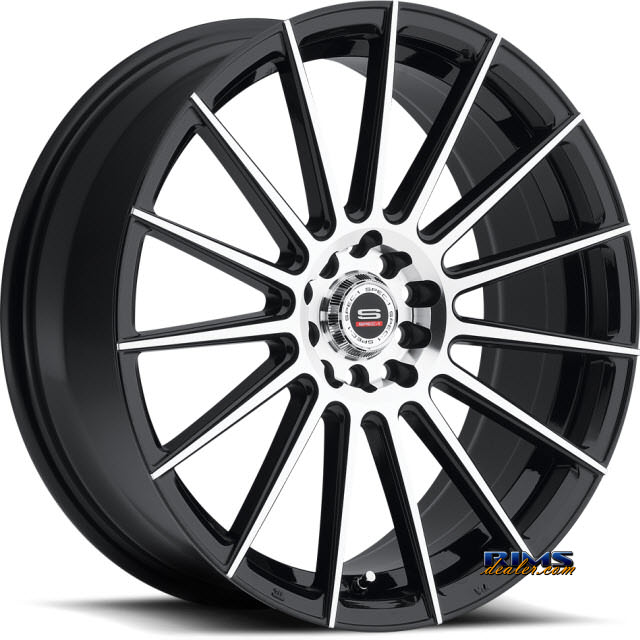 Pictures for Spec 1 Wheels SP- 27 black gloss w/ machined