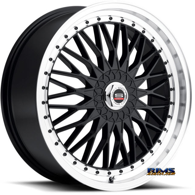 Pictures for Spec 1 Wheels SP-3 black flat w/ machined