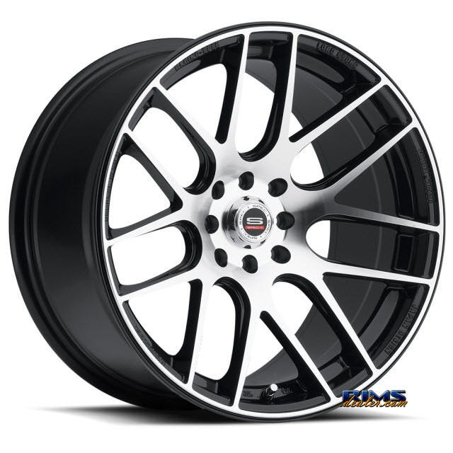 Pictures for Spec 1 Wheels SP-5 black gloss w/ machined