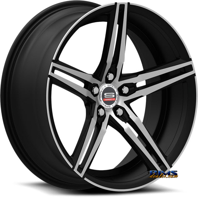 Pictures for Spec 1 Wheels SPM-75 black gloss w/ machined