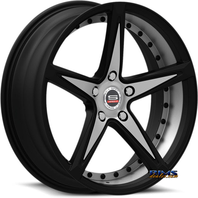Pictures for Spec 1 Wheels SPM-78 black gloss w/ machined