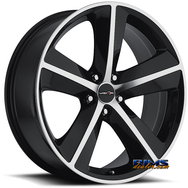 Pictures for Vision Wheel Sport Concepts 859 black flat w/ machined