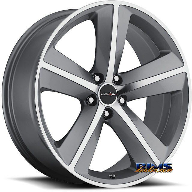 Pictures for Vision Wheel Sport Concepts 859 gunmetal flat