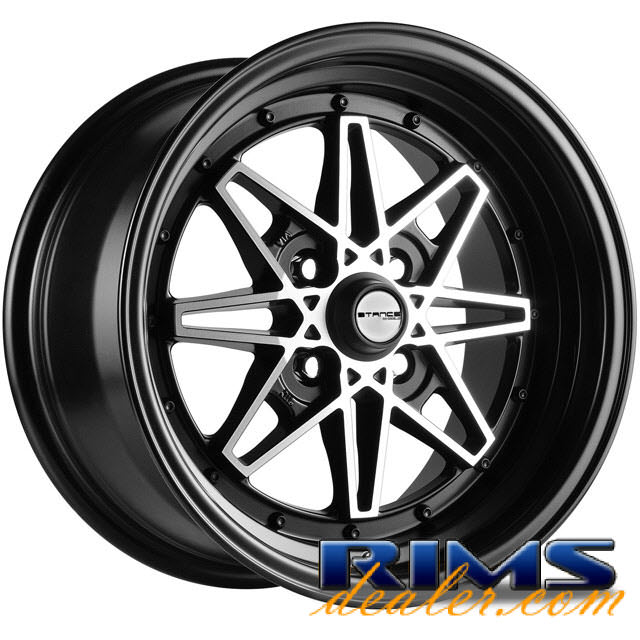 Pictures for STANCE WHEELS Emotion machined black w/black lip