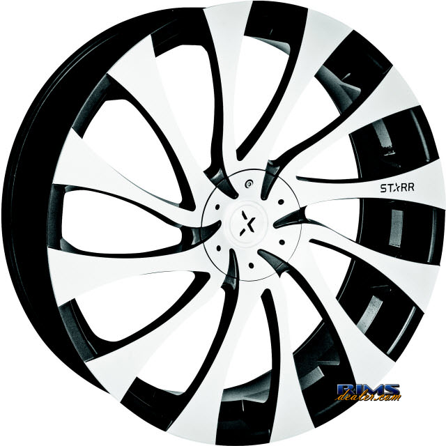 Pictures for STARR ALLOY WHEEL 718 GATSBY machined w/ black