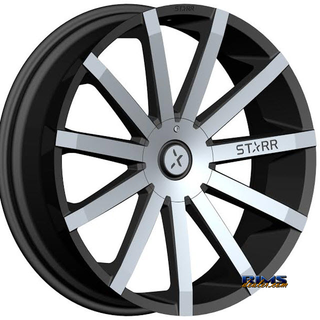 Pictures for STARR ALLOY WHEEL 222 MAYHEM Machined w/ Black