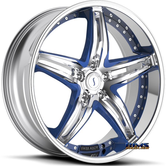 Pictures for STATUS S837 Haze (custom blue / 5-lug only) chrome
