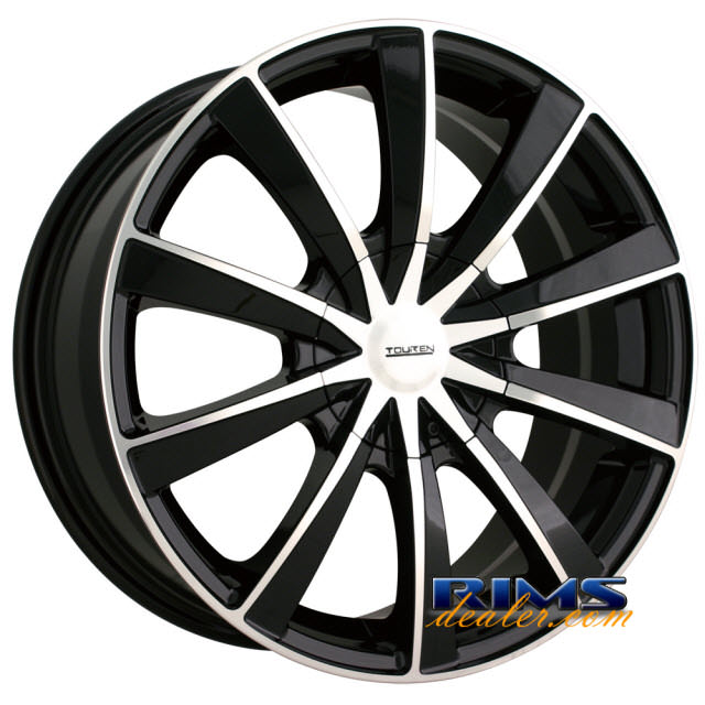Pictures for Touren Custom Wheels TR10 machined w/ black