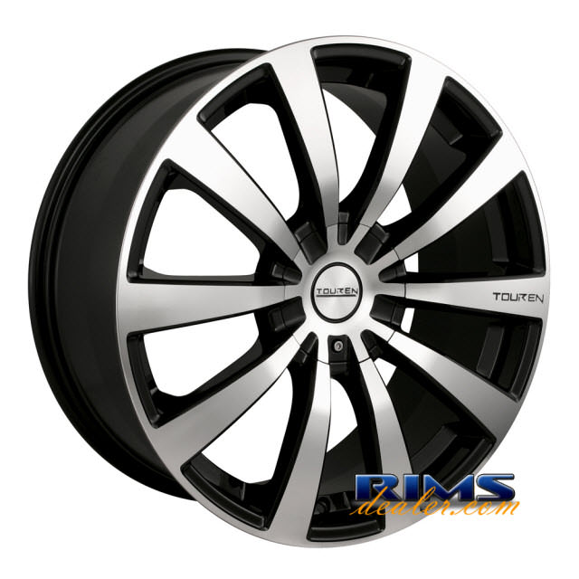 Pictures for Touren Custom Wheels TR3 machined w/ black