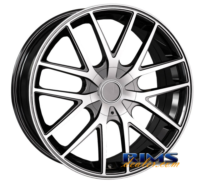 Pictures for Touren Custom Wheels TR60 machined w/ black