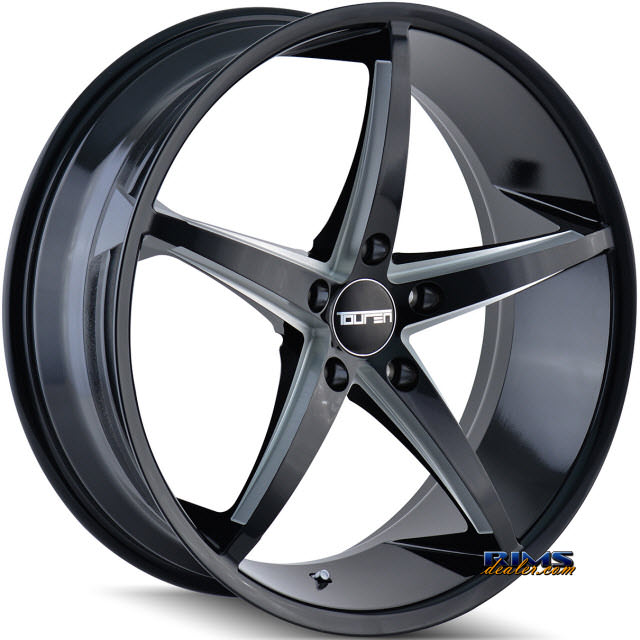 Pictures for Touren Custom Wheels TR70 3270 Black Gloss w/ Machined