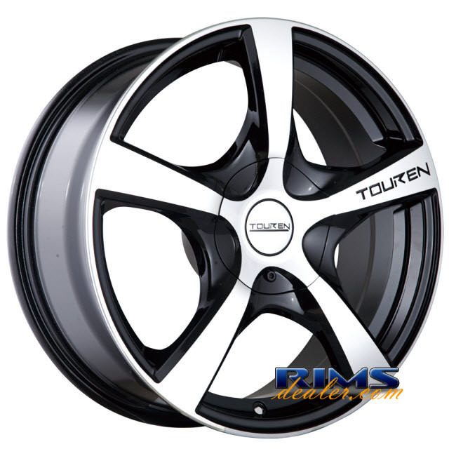 Pictures for Touren Custom Wheels TR9 machined w/ black