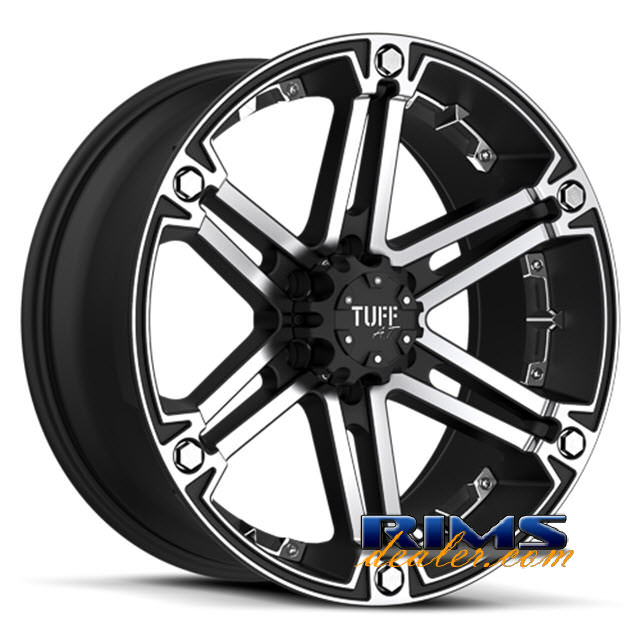 Pictures for Tuff A.T Wheels T01 black flat w/ machined