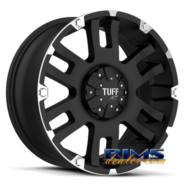 Pictures for Tuff A.T Wheels T04 black flat w/ machined