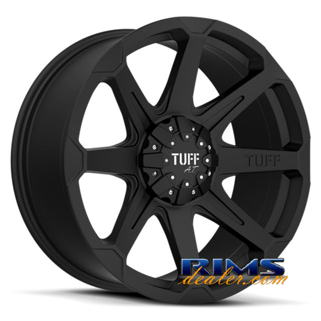 Pictures for Tuff A.T Wheels T05 black flat