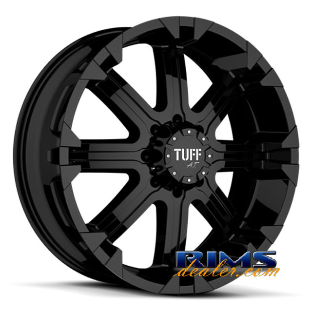 Pictures for Tuff A.T Wheels T13 black flat