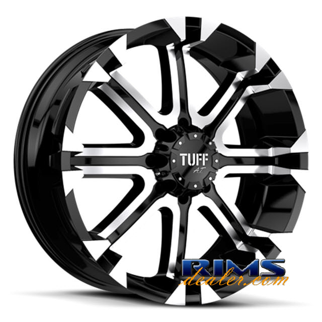 Pictures for Tuff A.T Wheels T13 machined w/ black