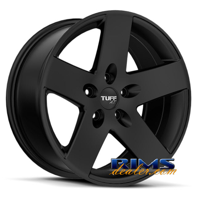 Pictures for Tuff A.T Wheels T20 black flat