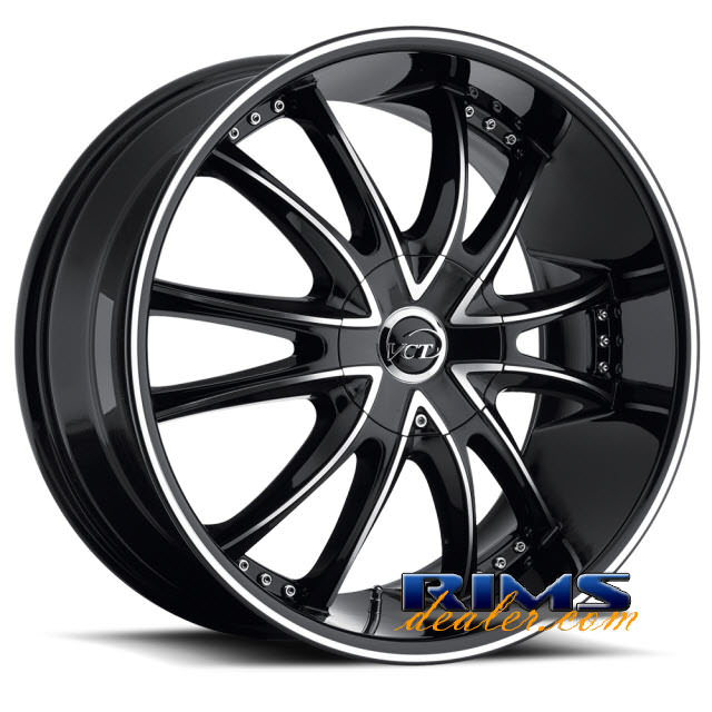 Pictures for VCT Wheels BOSSINI machined w/ black