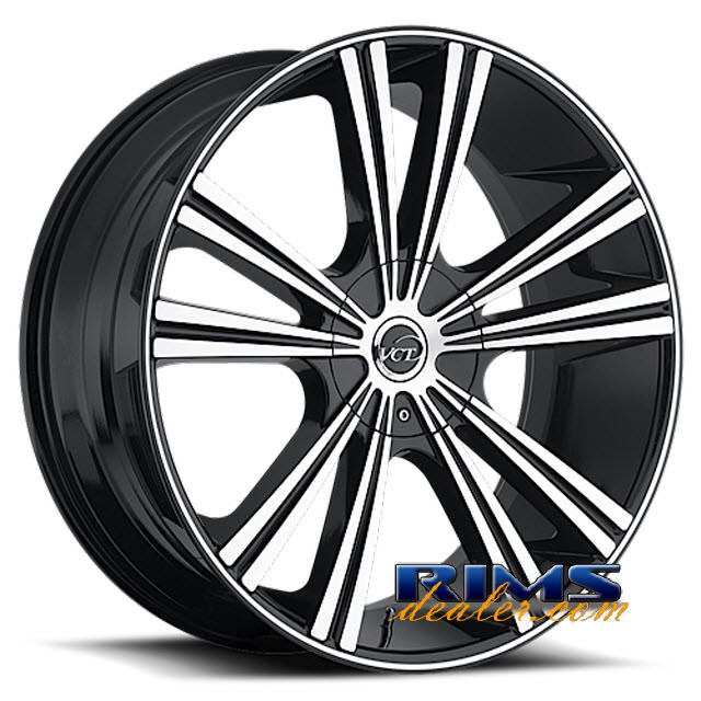 Pictures for VCT Wheels MONZA machined w/ black