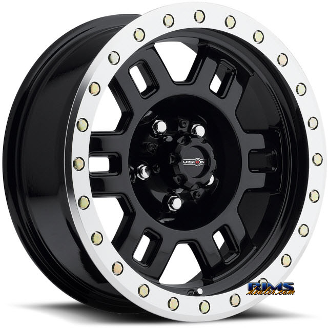 Pictures for Vision Wheel 398 Manx black flat w/ machined