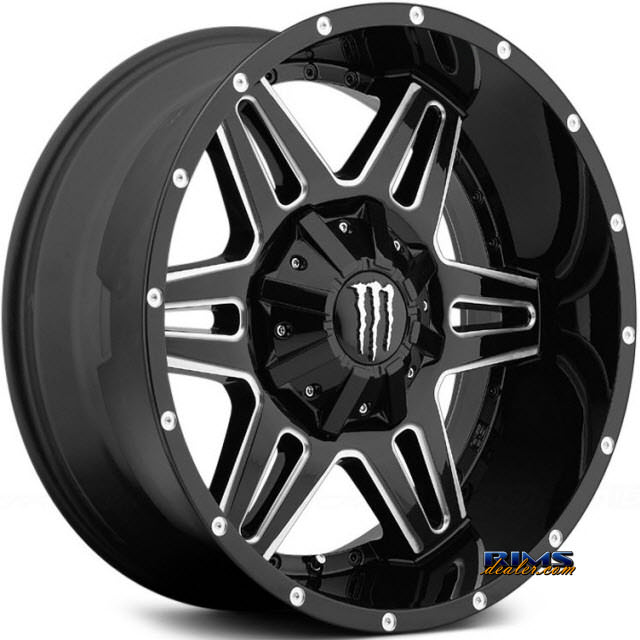 Pictures for Monster Energy 538BM - Milled Accents black gloss w/ machined