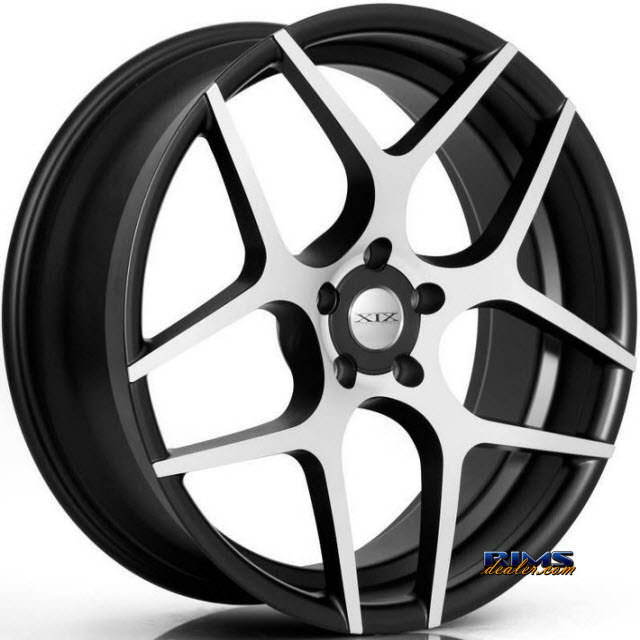Pictures for XIX Wheels X35 Black Flat w/ Machined
