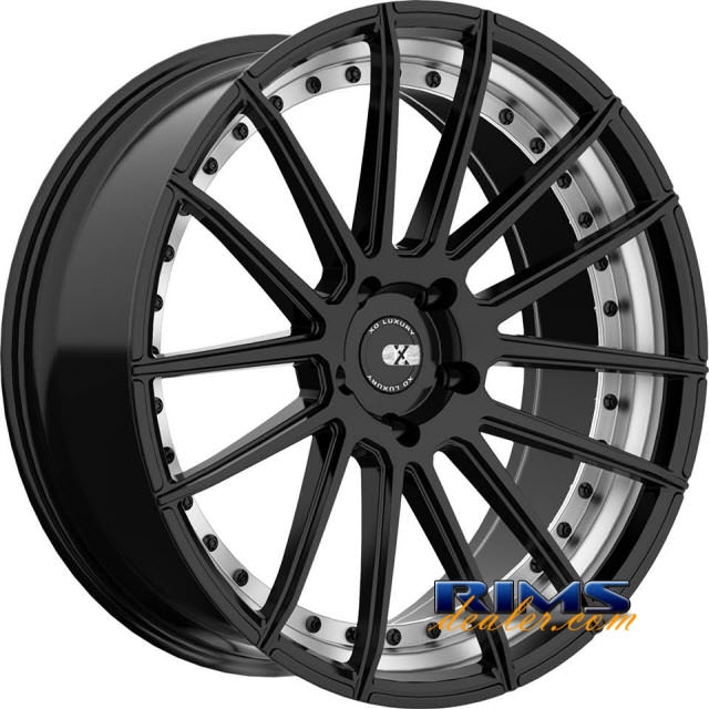 Pictures for XO Luxury Wheels BARCELONA black flat w/ machined