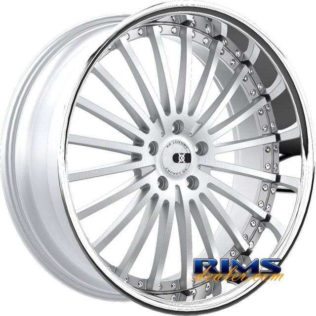 Pictures for XO Luxury Wheels NEWYORK silver w/ chrome lip