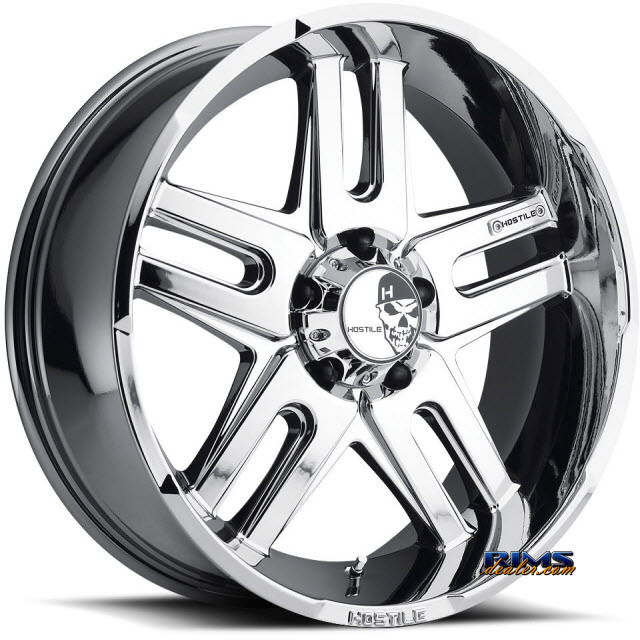 Pictures for Hostile Truck Wheels H104 - ZOMBIE-PVD 5 chrome