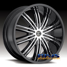 2Crave Rims No.7 machined w/ black