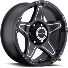 Vision Wheel Wizard 395 black flat w/ machined