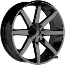 KMC KM651  Slide Black Gloss