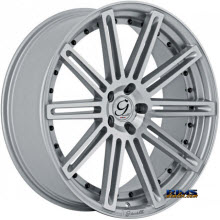 GIANELLE WHEELS - TROPEZ - machined w/ silver