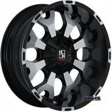 KOKO KUTURE WHEELS - FORCE - machined w/ black
