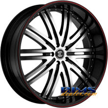 2Crave Rims - No.11 - machined black w/stripe
