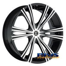 2Crave Rims - No.12 - machined w/ black