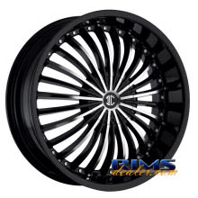 2Crave Rims - No.13 - machined w/ black
