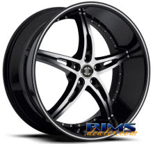 2Crave Rims - No.14 - machined black w/stripe