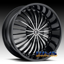 2Crave Rims - No.19 - machined w/ black
