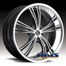 2Crave Rims - No.2 - machined w/ black chrome